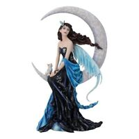 Moon Indigo Fairy By Nene Thomas Fantasy Ornament Statue 30cm Nemesis Now