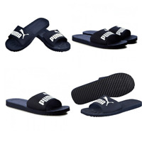 Puma Slides Unisex Black Purecat Pool Beach Women Sandals Men Sliders Shoes