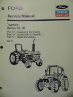 Ford New Holland Tractors Series 10, 30 Service Manual 2600 to 8210 Vol. 6