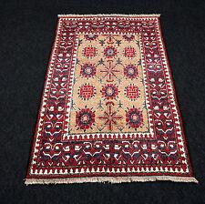 Seidenteppich Afghan 119 x 79 cm Orient Teppich Seide Alt Kazak Silk Carpet Rug