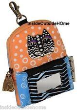 Laurel Burch Polka Dot Cat ID Wristlet Bag Cell Phone Case iPhone iPod MP3 NEW B