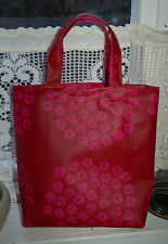 Handmade small tote bag from Marimekko Puketti OIL CLOTH, from Finland