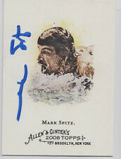 Mark Spitz Olympic Swimmer 7 Gold Medals SIGNED CARD ALLEN & GINTER