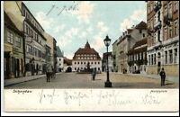 Schandau  sächsische Schweiz Postkarte 1906 gelaufen Partie am Marktplatz