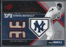 2003 SPX WINNING MATERIALS RELIC MICKEY MANTLE 168/175