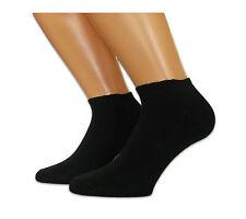 12 Paar schwarze Herren Sneaker Socken - gekämmte Baumwolle + Elasthan Gr.40/45