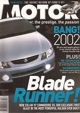 Motor Oct 02 VY SS BA GT XR6 Turbo Camry Sportivo Mazda 2 Sport Subaru Forester