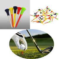 30PC Multi Color Plastic Golf Tees 83mm Durable Rubber Cushion Top Golf Stud