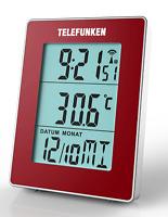 TELEFUNKEN FUD-30-S (R) Multifunktions Funkwecker, große Anzeige, rot B-Ware