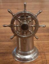 Rare 1940S Nautical Metal Ship Sheering Wheel Torch Lighter-Maritime