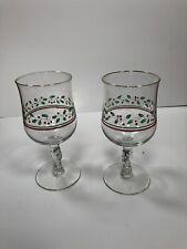 Set Of 2 christmas goblets Glassware
