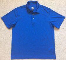 FOOTJOY Athletic Fit Golf Shirt - Blue Polyester Spandex - Mens Size L - VGC
