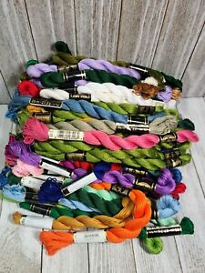 Lot of 70 DMC PERLE COTTON #5 Assorted Colors