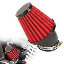 1x 42MM Red Air Intake Filter Pod 45 Degree Bend for Motorcycle Scooter ATV New