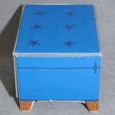 Barbie 1960s Furniture Dream House Cardboard Vintage Excellent Stool Blue
