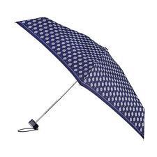 Totes Miniflat Paraguas de impresión de borde plateado metálico Paisley sección (5)