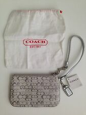COACH Madison Lurex Wristlet - Silver - with Dust Bag