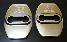 2 CACHE PROTECTION SERRURE TOYOTA COROLLA AURIS CAMRY RAV4 AVENSIS YARIS CHROME