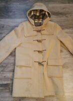 Vintage Eddie Bauer Bannock Bane Hooded Duffle Plaid Wool Jacket Womens SL/XL
