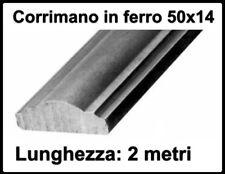 barra ferro battuto corrimano sagomato pieno per barriere 50x14 cm 200