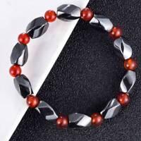 Chakra Hematite Bracelet Spot Healing Magnetic Therapy Stretch Stone Beaded