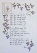 The Prayer of St. Francis, Cross Stitch Pattern, Beautiful Spiritual Design