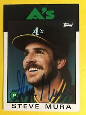 Steve Mura 1986 Topps #281 Oakland A's auto signed autograph