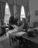 President John F. Kennedy with Senator Hubert Humphrey Oval Office Photo Print