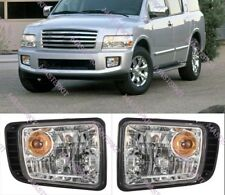 For Infiniti QX56 QX4  2001 - 2008 Clear Front Fog Lights LH & RH Set