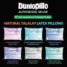 DUNLOPILLO Luxurious Talalay Latex Pillows Classic/Medium/High Up To 40% OFF RRP