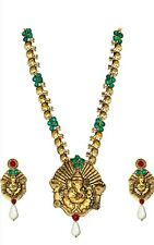 Bollywood Designer Gold Plated Ganesha Necklace Set For Women In Fashion Jewelry