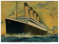 Olympic & Titanic 1910 Montague Birrell Black 16 x 20 - White Star Line