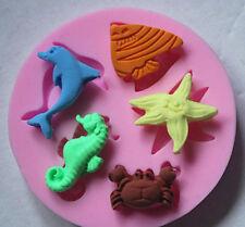 HOT Sea Beach Silicone Cake Sugarcraft Mold Fondant Soap Chocolate Moulds 1PC