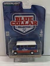 1970 Ford Club Wagon Chevron Blue Collar Collection 1:64 Greenlight 35160A