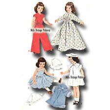 "Vintage 1950s Doll Clothes Pattern ~ 16"" Toni, 15"" Miss Revlon, Sweet Sue"