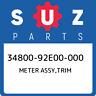 34800-92E00-000 Suzuki Meter assy,trim 3480092E00000, New Genuine OEM Part