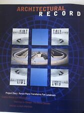 Architectural Record Magazine Renzo Piano Fiat  Landmark March 1997 081817nonrh2