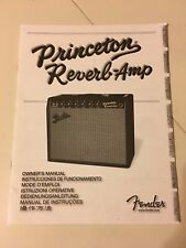 Fender Princeton Reverb Amp Amplifier Owners Manual Specifications 2007