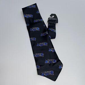 Vintage Orlando Magic NBA Ralph Marlin Men's Neck Tie Black/Blue
