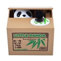 Stealing Coin Panda Box Piggy Bank Panda Bear English Speaking for Any Child