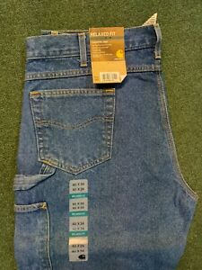 Men's Carhartt Relaxed Carpenter Jeans-B171DST  Multiple sizes NWT