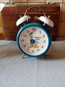 Réveil vintage bradley Donald Duck année 70 Disney
