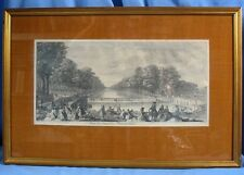 """""""VÜE DU CANAL DE FONTAINEBLEAU"""", gravée et éditée par Jacques RIGAUD / 1738"""