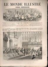LE MONDE ILLUSTRÉ - N°310 - 21/03/1863 - MARIAGE PRINCE GALLES - F. DE FIGUEROA