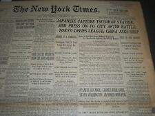 1931 NOVEMBER 19 NEW YORK TIMES - JAPANESE CAPTURE TSITISHAR STATION - NT 6665