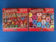 Lot of 2 Puzzles 500 piecesNEW Rainbow Donuts Mexican Souvenirs Puzzlebug Jigsaw