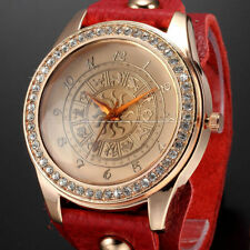 Quartz (Battery) Unbranded Round Watches with 12-Hour Dial