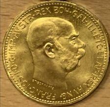 GOLDMÜNZE 20 KRONEN KAISER FRANZ JOSEF 1915 Dukat GOLD 900/1000 ÖSTERREICH
