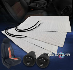 2X HEATED SEAT HEATER PAD W/ROUND HI/MID/LOW SWITCH STS MONTE CARLO NEON STRATUS