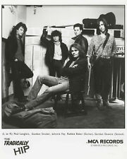 Tragically Hip Band Photo (1989 MCA Records Promo Poster) -  8x10 B&W Photo